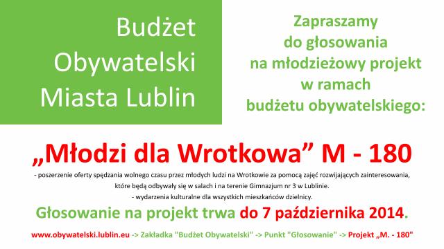 Młodzi Dla Wrotkowa | Projekt M-180 w ramach Budżetu Obywatelskiego Miasta Lublin
