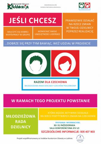Plakat Rekrutacyjny Projektu Razem Dla Czechowa | Fundacja KReAdukacja | Lublin